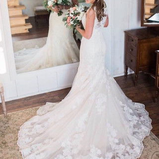 wedding bride in the bridal suite in dress