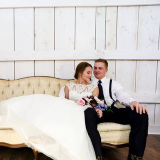 Bride groom couch