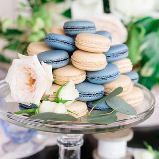 macarons on dessert table