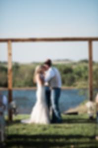 First Kiss Barn Wedding