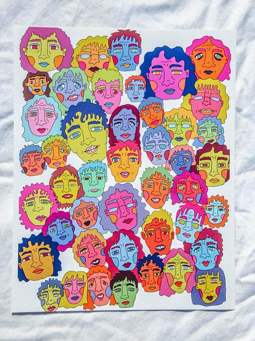 Faces Print