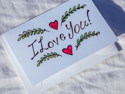 I Love You Mini-Card