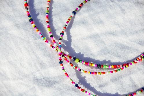 Rainbow Beaded Choker Necklace