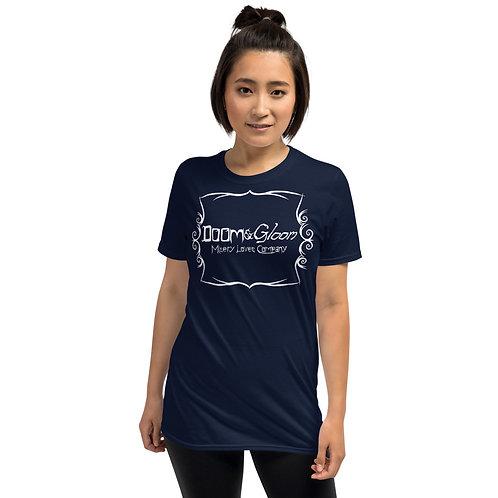 White Font - Doom & Gloom Official Logo - Short-Sleeve Unisex T-Shirt