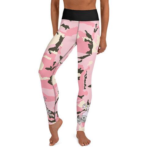 (Pink Camo) Bone Pile Doom - Yoga Leggings