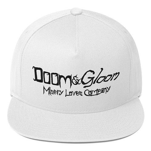 Black Lettering Doom & Gloom Official Logo - Flat Bill Cap