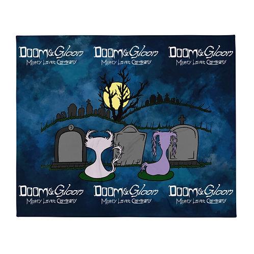 Graveyard Scene - Doom & Gloom - Soft Throw Blanket