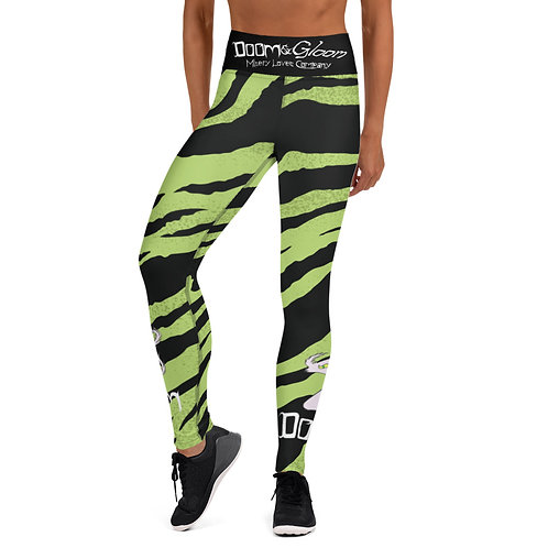 (Green Tiger Stripe) Doom Character - Yoga Leggings