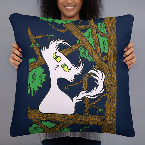 Night Time Doom in a Tree - Throw Pillow