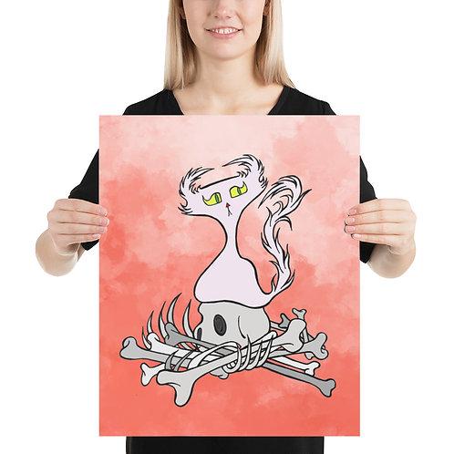 (Coral Smoke) Bone Pile Doom Character - Premium Luster Paper Poster
