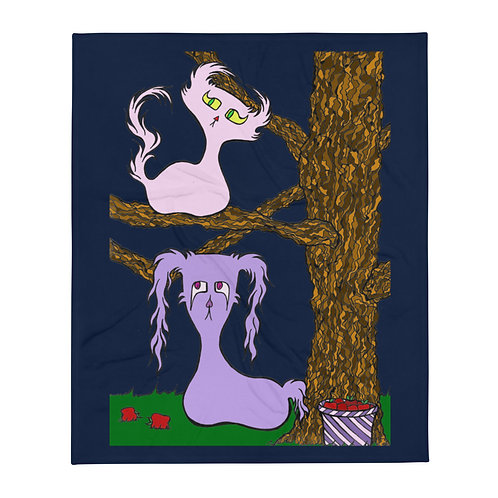 Nighttime - Apple Picking Doom & Gloom Characters - Throw Blanket