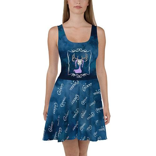 Deer Skull Gloom - Premium All-Over Print Skater Dress