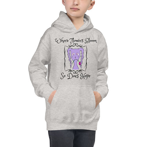 "Gloom ""Where Flowers Bloom"" (With Logo on the Back) - Kids Hoodie"