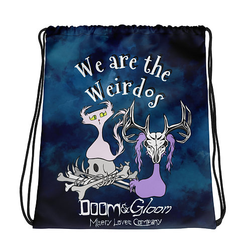 """We are the Weirdos"" Doom & Gloom Characters - Drawstring bag"