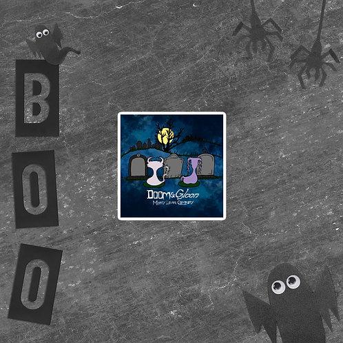 Graveyard Scene - Doom & Gloom - Vinyl Bubble-free sticker