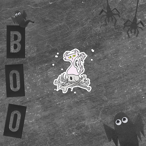 "Bone Pile Doom Character ""Bubble-free"" sticker"
