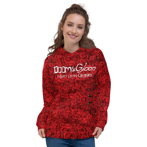 (Red Roses) Doom & Gloom Logo - PREMIUM Unisex Hoodie