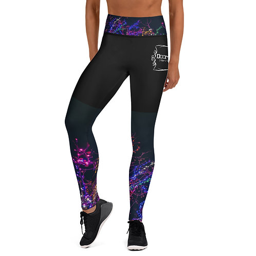 (Neon Lights) Doom & Gloom Logo - Yoga Leggings