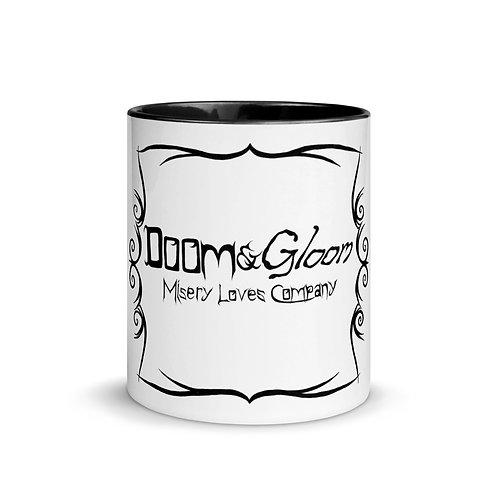 Black Font - Doom & Gloom Misery Loves Company Official Logo - Ceramic Mug