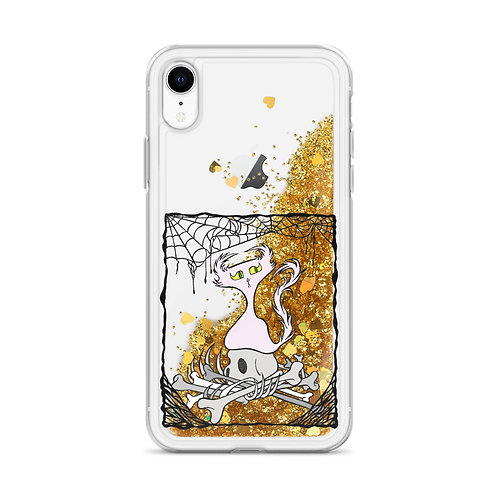 Bordered Bone Pile Doom - iPhone Liquid Glitter Phone Case