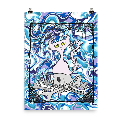 (Blue Marble) Bordered Bone Pile Doom Character - Premium Luster Paper Poster