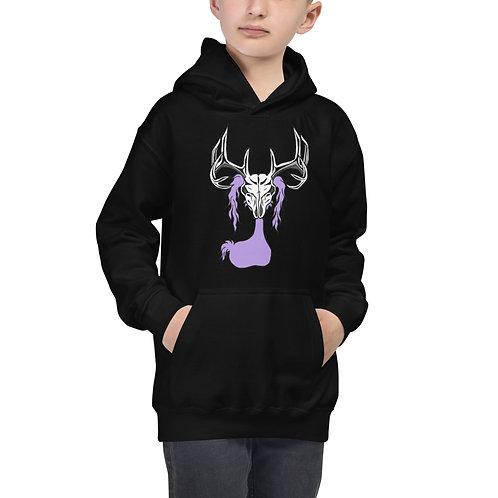 Deer Skull Gloom Character - Kids Hoodie