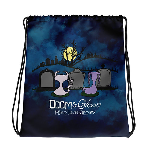 Graveyard Scene - Doom & Gloom - Drawstring bag