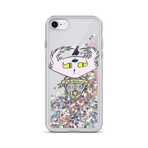 Ouija Planchette Doom - iPhone Liquid Glitter Phone Case