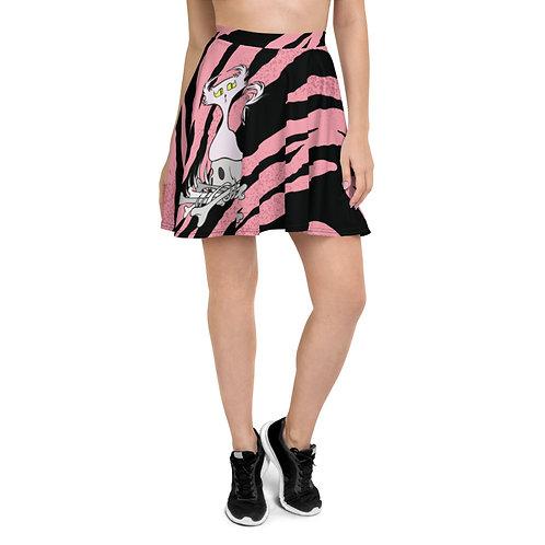 (Pink Tiger Stripes) Bone Pile Doom - Skirt