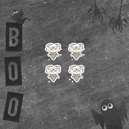 4 Ouija Planchette Doom Vinyl Sticker Sheet