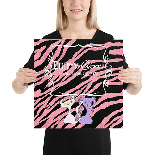 (Pink Tiger Stripe) Doom & Gloom Characters W/ Logo Premium Luster Paper Poster