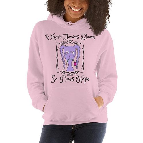 """Gloom """"Where Flowers Bloom"""" (Logo on the Back) - Unisex Hoodie"""
