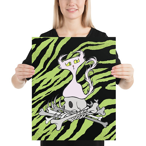 (Green Tiger Stripe) Bone Pile Doom Character - Premium Luster Paper Poster