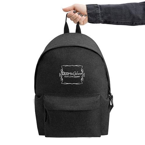Doom & Gloom Official Logo - Embroidered Backpack