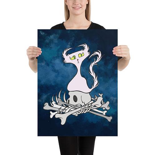 (Blue Smoke) Bone Pile Doom Character - Premium Luster Paper Poster