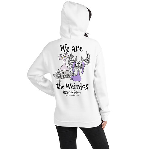 """Black Font """"We are the Weirdos"""" Unisex Hoodie"""