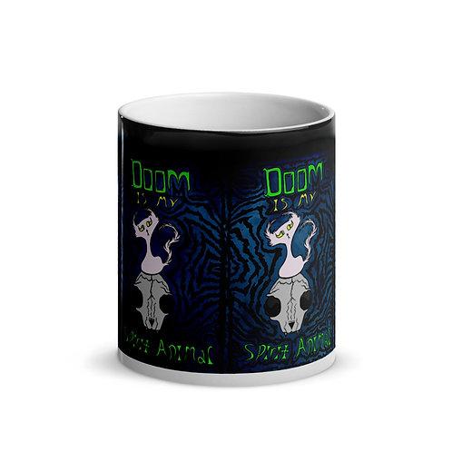(Dark Blue) Doom is my Spirit Animal - MAGIC Mug