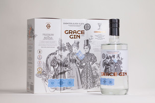 An award for the Grace Gin bottle