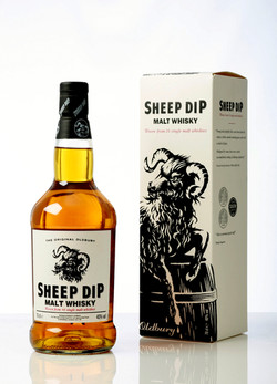 SHEEP DIP ON WHITE WITH BOX