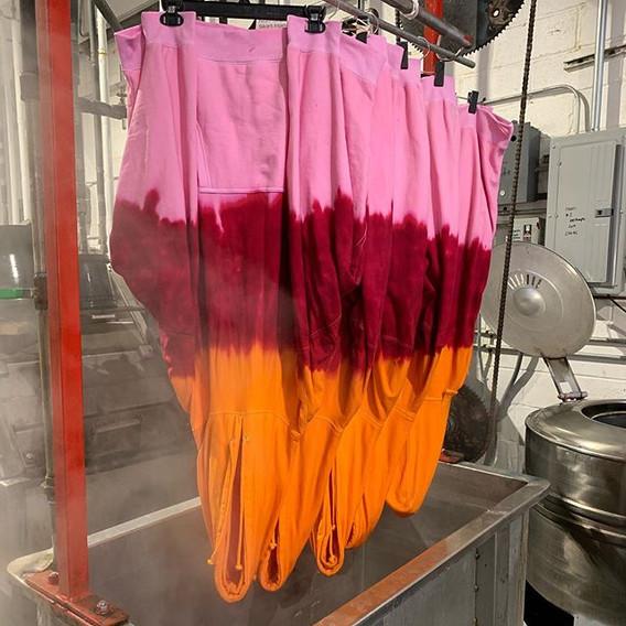 3 color block dip dye hoodies. Garments