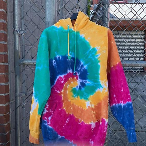 100% Cotton Tie-Dye Sweatshirt. Reactive