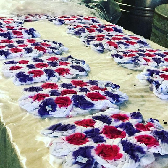 Behind the scenes🎬_Splatter Tie Dye Pre