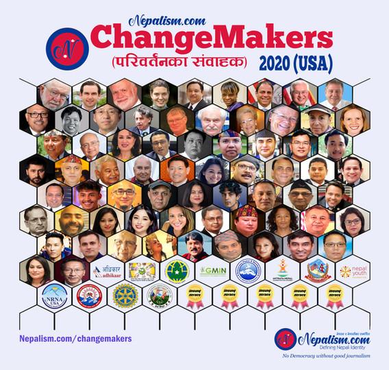 ChangeMakers (परिवर्तनका संवाहक) 2020 (USA) को घोषणा, को को चुनिए?
