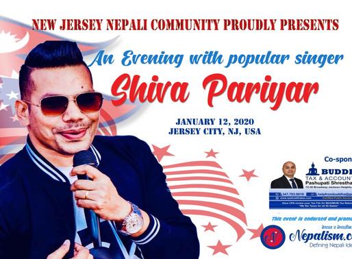 अमेरिकाको जर्सी सिटी शहरमा लोकप्रिय गायक शिव परियारसंग एक साँझ (जनवरी १२) हुँदै