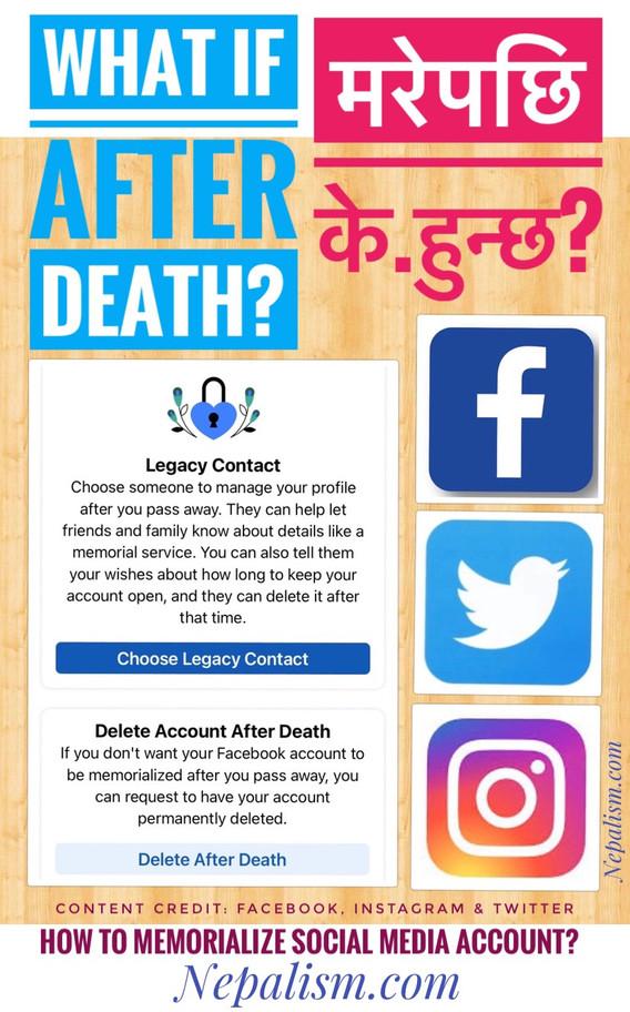 मरेपछि के हुन्छ- फेसबुकलगायत सोसल मिडिया र डिजिटल एकाउण्ट? कसरी अजम्बरी (memorialize) राख्न सकिन्छ?