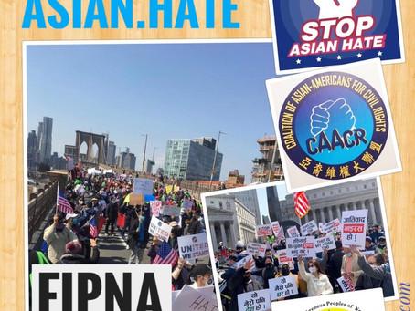 न्यू योर्कमा Stop Asian Hate जुलुसमा नेपालीहरूको सहभागिता, हिंशाको घटना १४९ प्रतिसतले वृद्धि