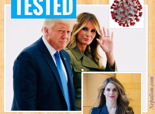 अमेरिकी राष्ट्रपति डोनाल्ड ट्रम्प कोरोना संक्रमित । U.S. President Trump tested Corona Positive