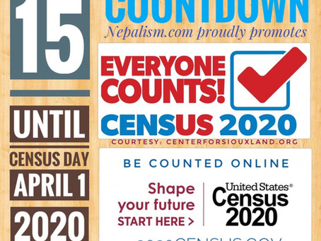 U.S. Census 2020 Countdown: Days to go: 15: अमेरिकी जनगणना २०२�