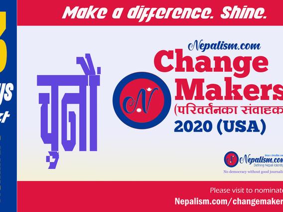 Nominate: 3 Days left: ChangeMakers (परिवर्तनका संवाहक) 2020 (USA)