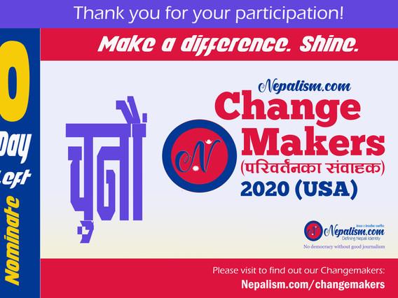 Thank you: 0 Day left: ChangeMakers (परिवर्तनका संवाहक) 2020 (USA)